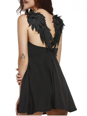 Outfit Wing Panel Backless Skater Slip Club Dress