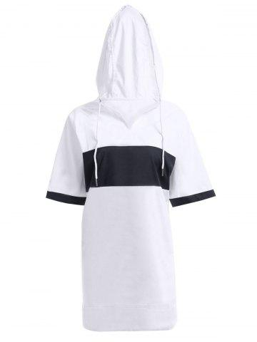 Trendy Stylish Hooded Short Sleeve Loose-Fitting Women's Dress