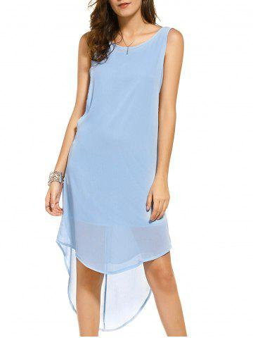 Best Casual Scoop Neck Sleeveless High Low Backless Dress For Women