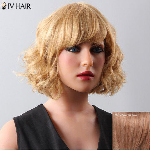 Outfits Stylish Women's Curly Medium Siv Hair Human Hair Wig