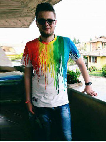 Outfits Casual Colorful Painting Pullover Tee For Men