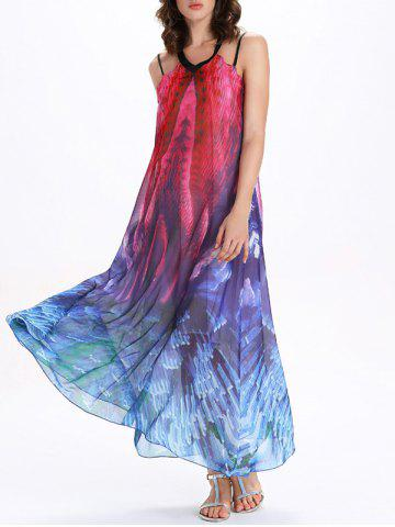 Outfit Tie Dye Backless Swing Maxi Sheer Long Flowy Dress COLORMIX 2XL