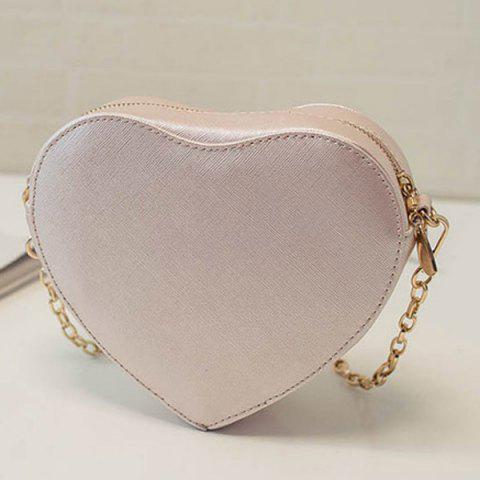 Shop Sweet Heart Shape and Lace Design Crossbody Bag For Women - LIGHT PINK  Mobile