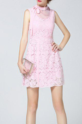 New Bowknot Design Lace Dress