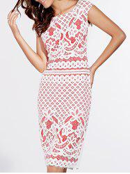 Short Sleeve Lace Crochet Pattern Dress -