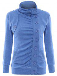 Chic Women's Stand-Up Collar Long Sleeve Single Breasted Jacket -