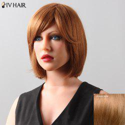 Stylish Women's Natural Straight Bob Style Siv Hair Human Hair Wig