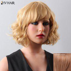 Stylish Women's Curly Medium Siv Hair Human Hair Wig