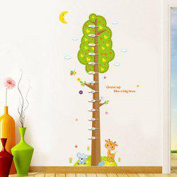 Vogue Cartoon Trees and Animal Pattern Height Chart Wall Sticker For Chidren