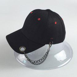 Trendy Circle Hoop Inlay and Chains Embellished Hip Hop Baseball Cap -