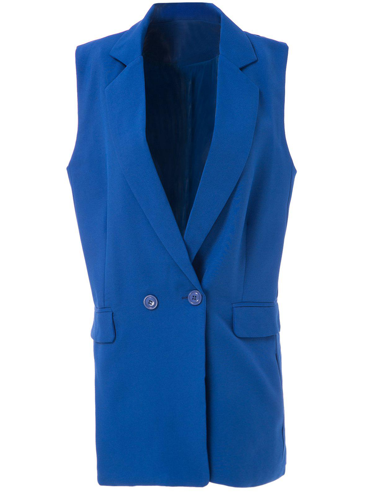 Sale OL Style Shawl Collar Solid Color Bodycon Blazer For Women