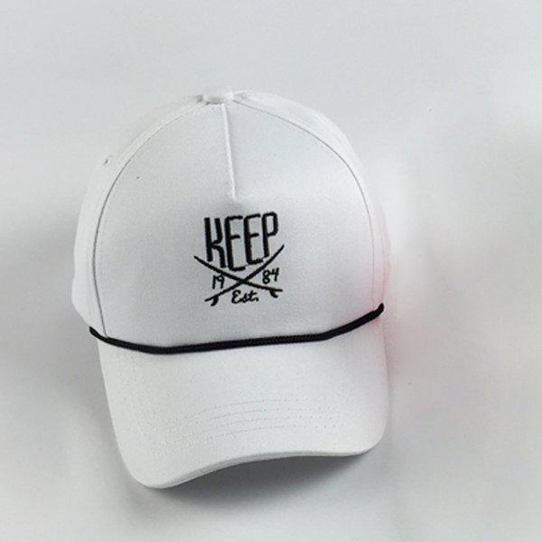 Affordable Trendy Letters Embroidery and Drawstring Embellished Hip Hop Baseball Cap