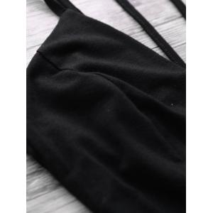 Cami Backless Low Cut Bodysuit - BLACK 2XL