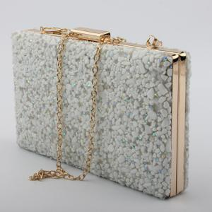 Trendy Tiny Stone and Metal Design Evening Bag For Women -