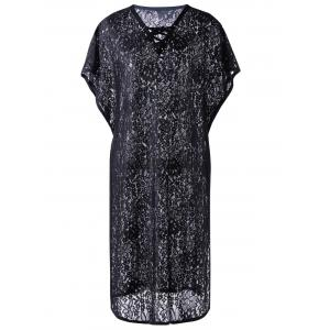 Lace Swimsuit Midi Kaftan Cover Up -