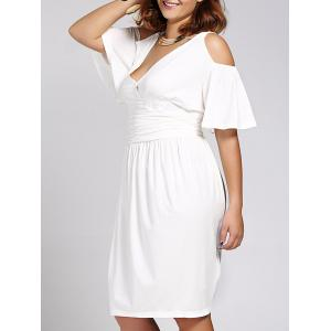 Women's Stylish Plus Size V Neck Short Sleeve Dress
