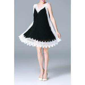 Color Block Lace Spliced Dress -