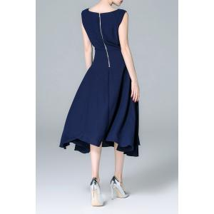 Back Zippered Solid Color Dress -