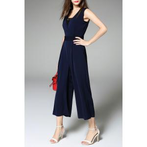 Elegant Belted Palazzo Jumpsuit -