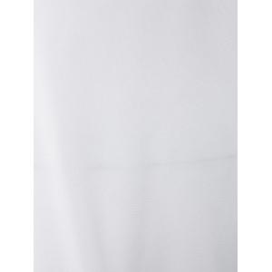 Sexy Round Neck Mesh Spliced Bodycon Women's Jumpsuit - WHITE M