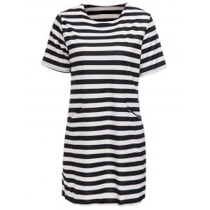 Striped Short Sleeve Casual Dress
