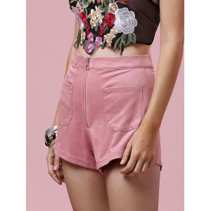 Stylish Zipper Fly Solid Color Pocket Design Women's Shorts -