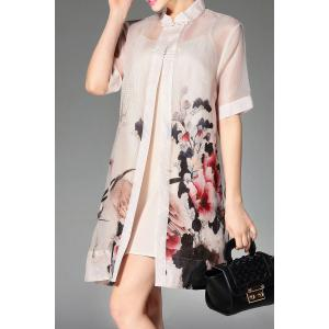 Cami Dress and Peony Print Shirt Dress Twinset -