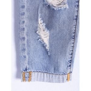 Distressed Ripped Capri Jeans -