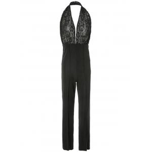 Plunging Neck Sleeveless Backless Jumpsuit