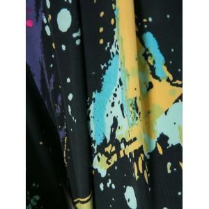 Cool and Refreshing Style Colorful Ink-Panting Harem Pants -