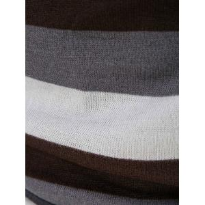 Turtleneck Stripe Kniting Vest With T-Shirt -