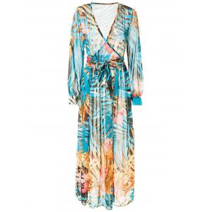 Boho Printed Long Sleeve Maxi Summer Swing Dress -