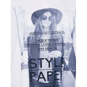 Casual Short Sleeves Figure Print T-Shirt For Women -