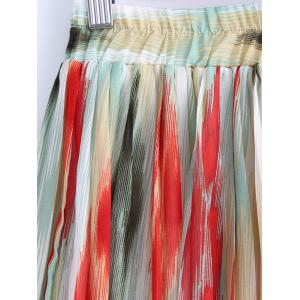 Printed Elastic Waist Skirt For Women -