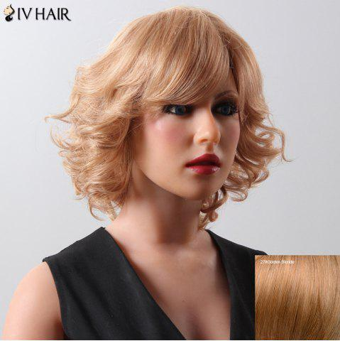 Discount Fashion Women's Medium Curly Siv Hair Human Hair Wig