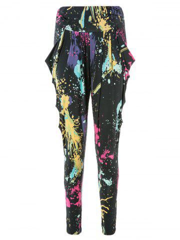 Cheap Cool and Refreshing Style Colorful Ink-Panting Harem Pants