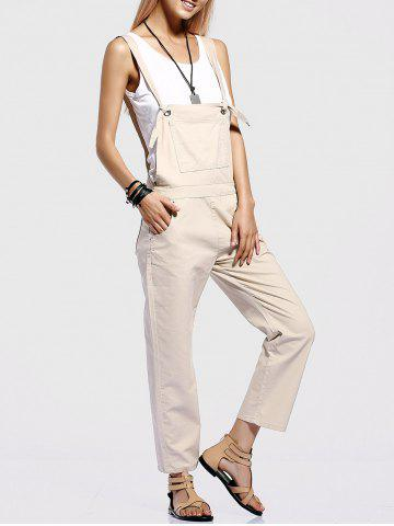 Discount Stylish Pocket Design Straight Leg Women's Overalls