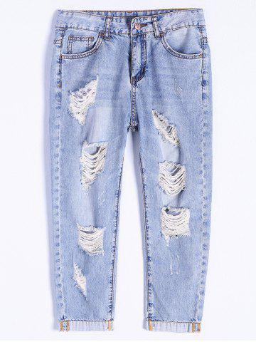 Outfit Distressed Ripped Capri Jeans