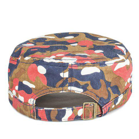 Shops Letters Applique Army Camouflage Print Cool Summer Military Hat - LIGHT RED  Mobile