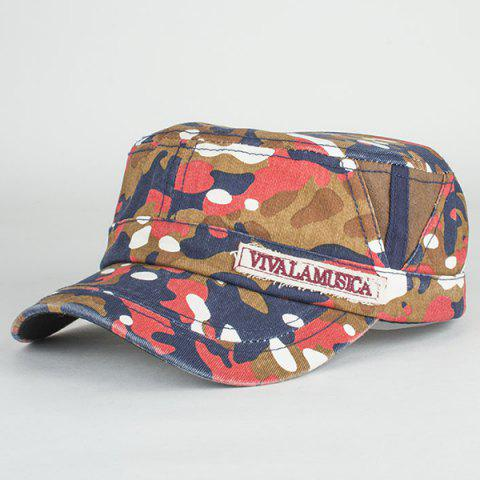 Buy Letters Applique Army Camouflage Print Cool Summer Military Hat