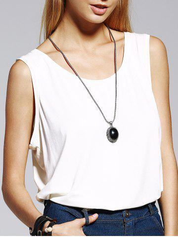 Shop Stylish Scoop Neck White Tank Top For Women