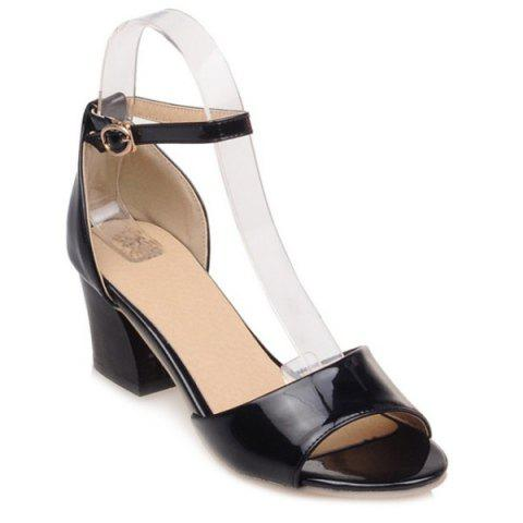 New Graceful Bow and Chunky Heel Design Sandals For Women -   Mobile