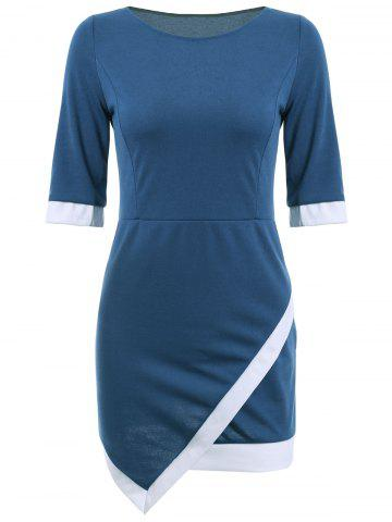 Fashion Asymmetric Mini Sheath Dress