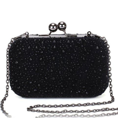 Buy Trendy Kiss Lock and Rhinestone Design Evening Bag For Women