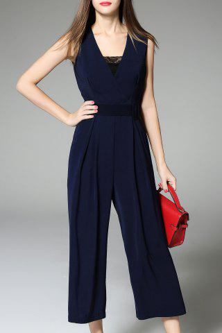 Affordable Elegant Belted Palazzo Jumpsuit