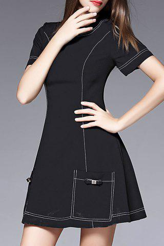 Shops Double Pockets Bowknot Dress
