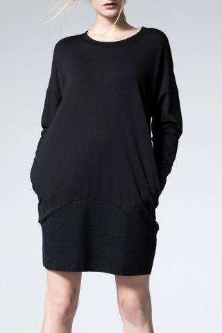 Outfit Solid Color Long Sleeve Mini Dress
