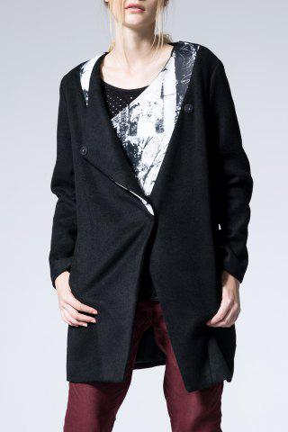 Fancy Wool Blend Printed Coat