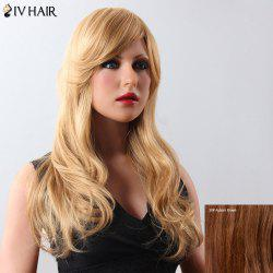 Fluffy Women's Long Siv Hair Human Hair Wig