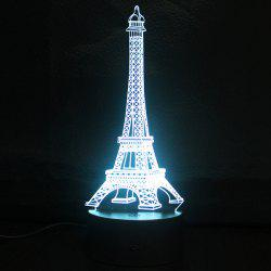 Creative Gradient couleur 3D Tour Eiffel Shape Commutateur tactile LED Night Light - Argent